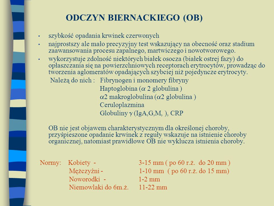 ODCZYN BIERNACKIEGO (OB)
