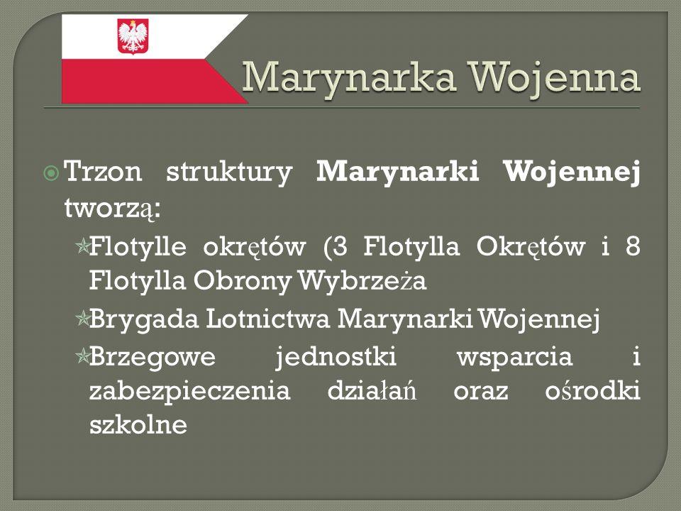 Marynarka Wojenna Trzon struktury Marynarki Wojennej tworzą: