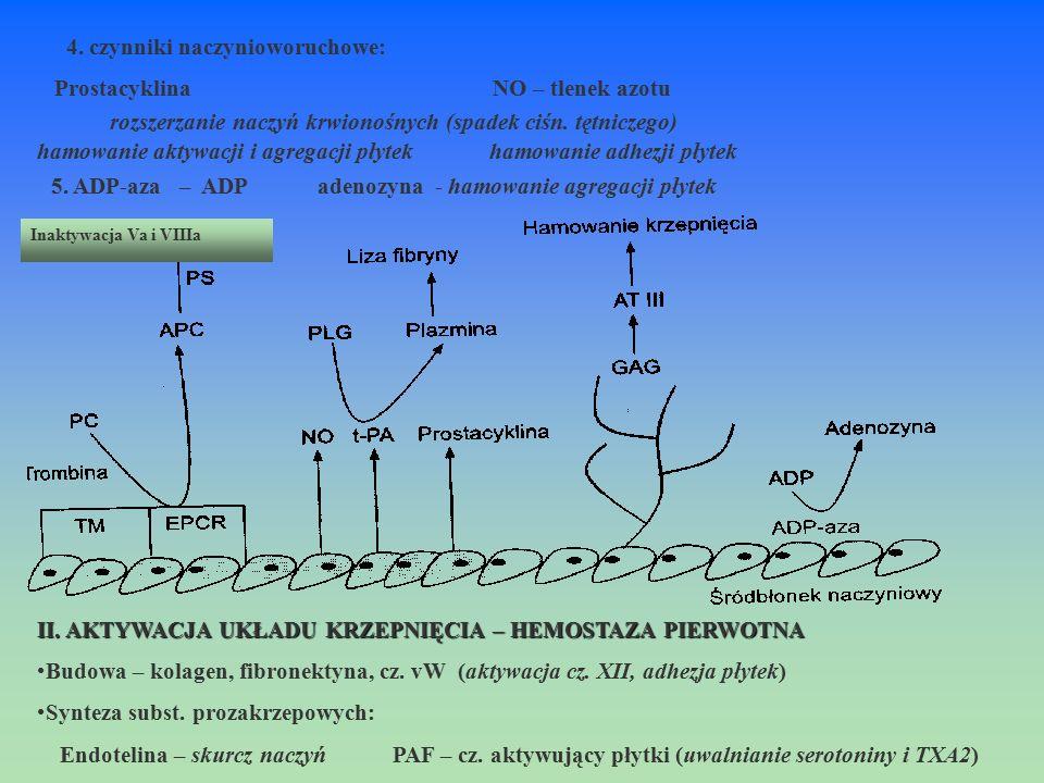 rozszerzanie naczyń krwionośnych (spadek ciśn. tętniczego)