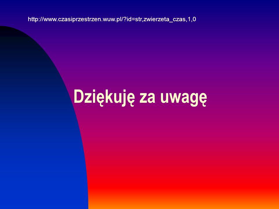http://www.czasiprzestrzen.wuw.pl/ id=str,zwierzeta_czas,1,0 Dziękuję za uwagę