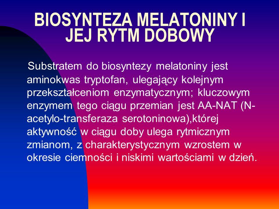 BIOSYNTEZA MELATONINY I JEJ RYTM DOBOWY