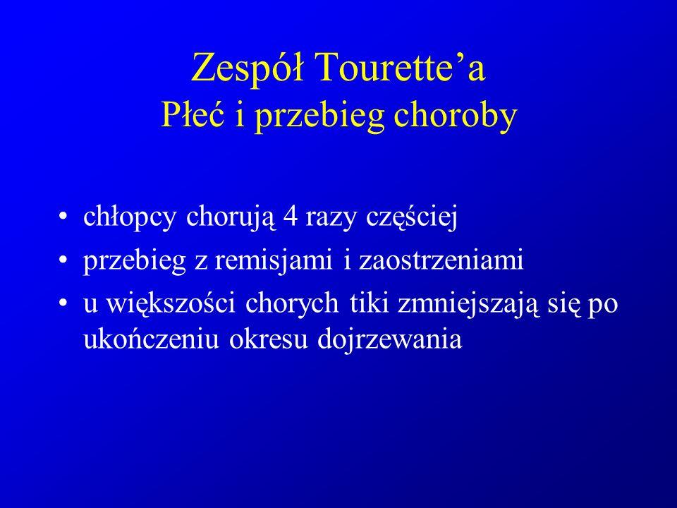 Zespół Tourette'a Płeć i przebieg choroby