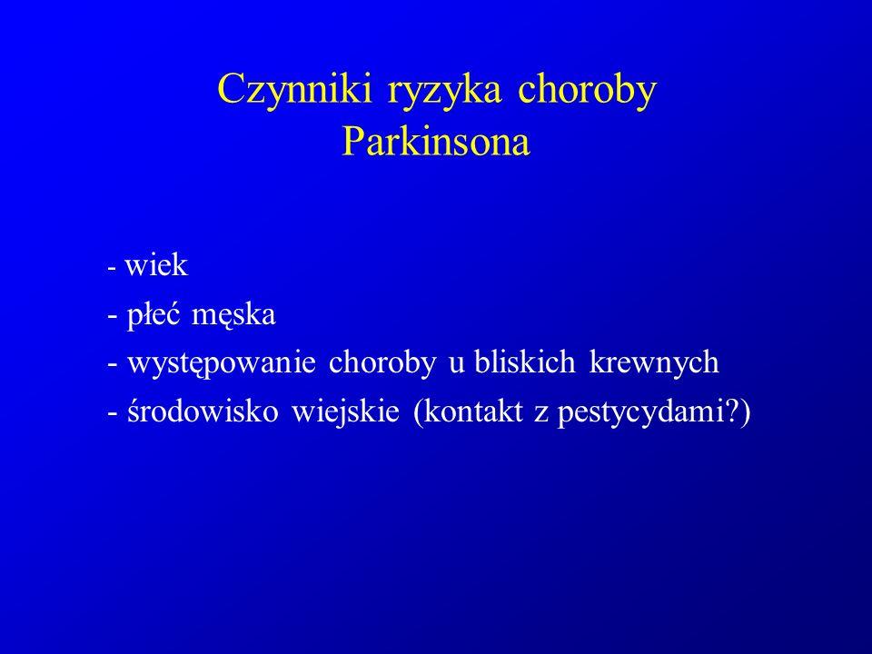 Czynniki ryzyka choroby Parkinsona