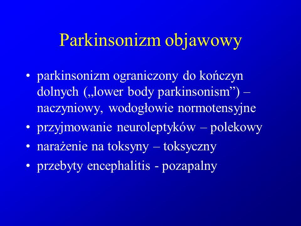 Parkinsonizm objawowy