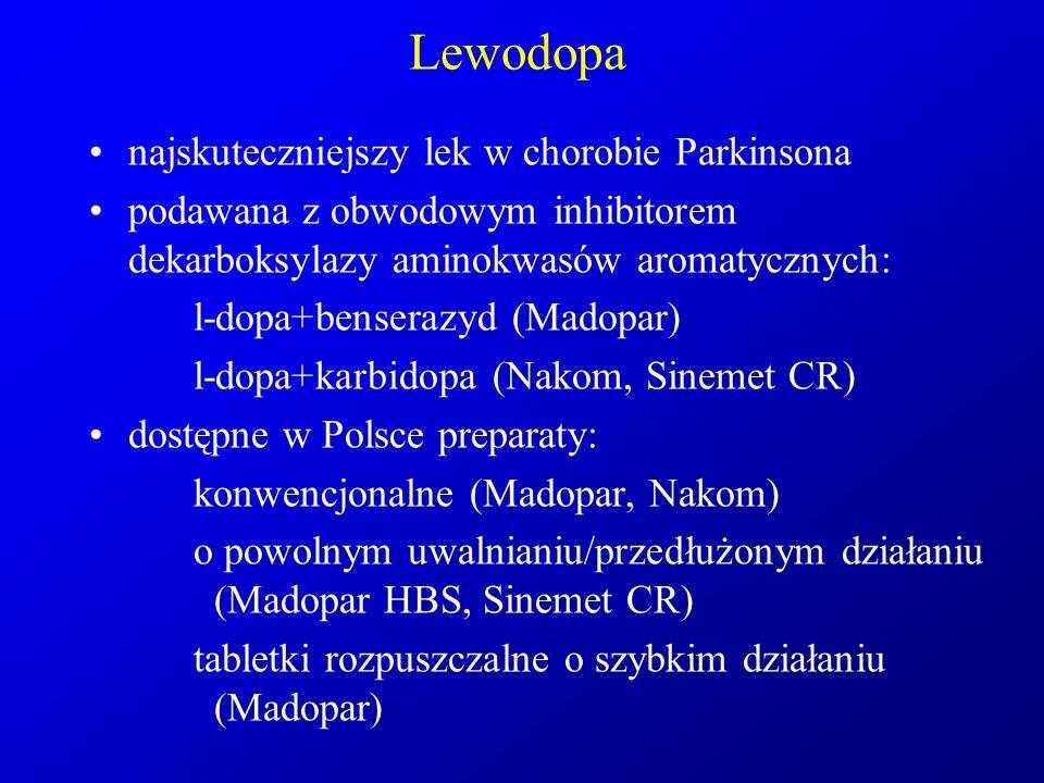 Lewodopa najskuteczniejszy lek w chorobie Parkinsona