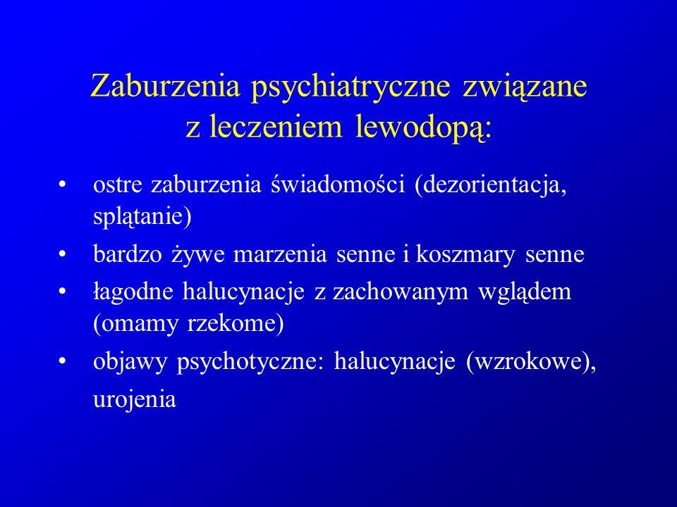 Zaburzenia psychiatryczne związane z leczeniem lewodopą: