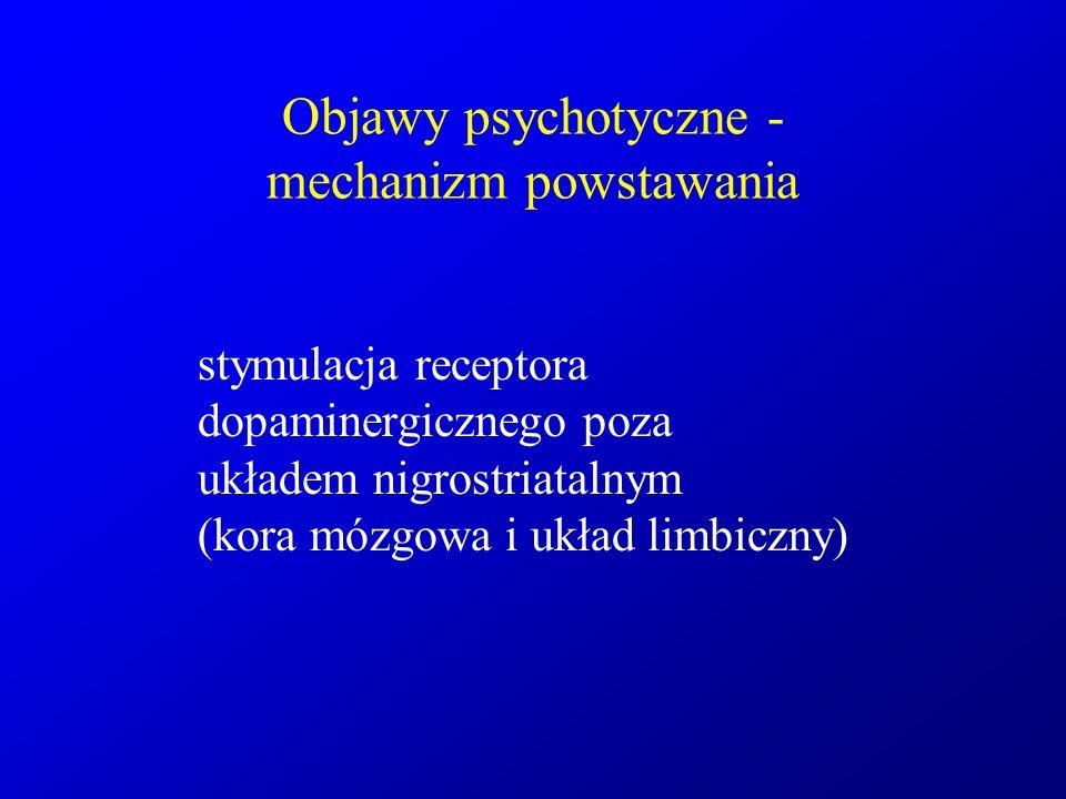 Objawy psychotyczne - mechanizm powstawania