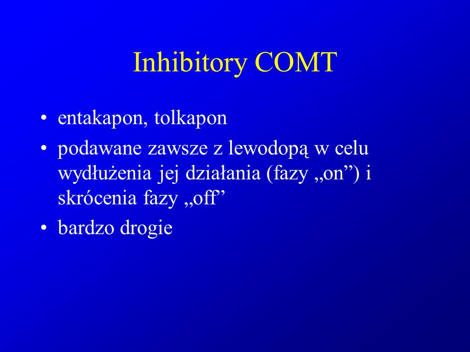 Inhibitory COMT entakapon, tolkapon