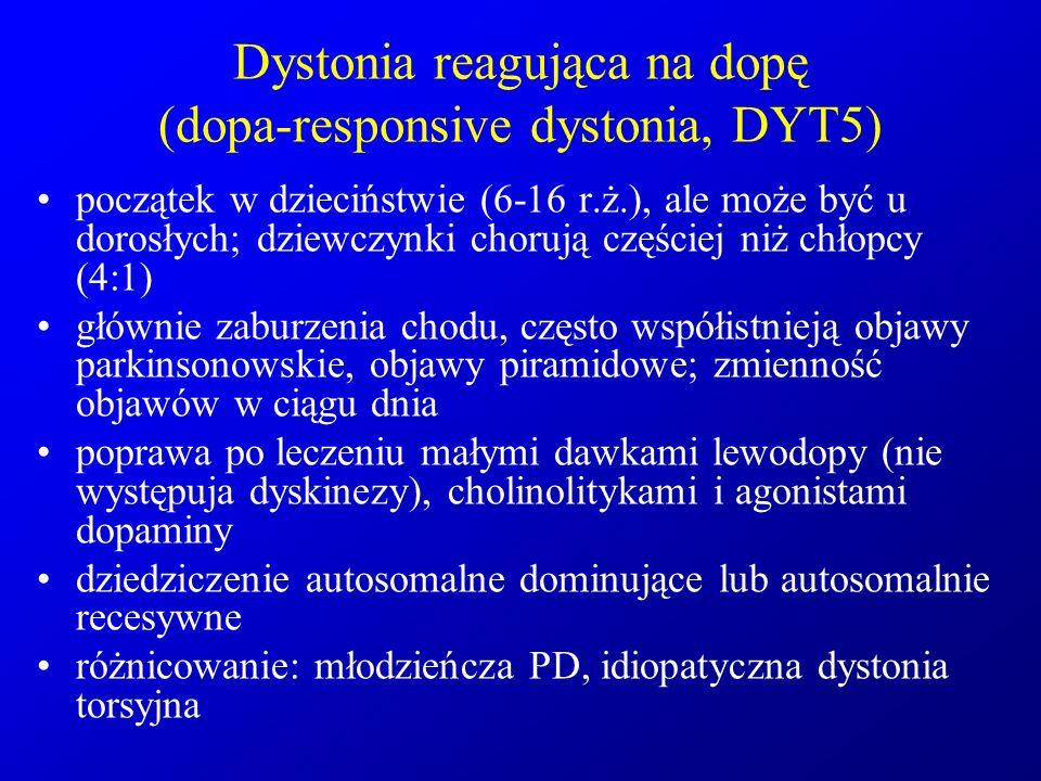 Dystonia reagująca na dopę (dopa-responsive dystonia, DYT5)