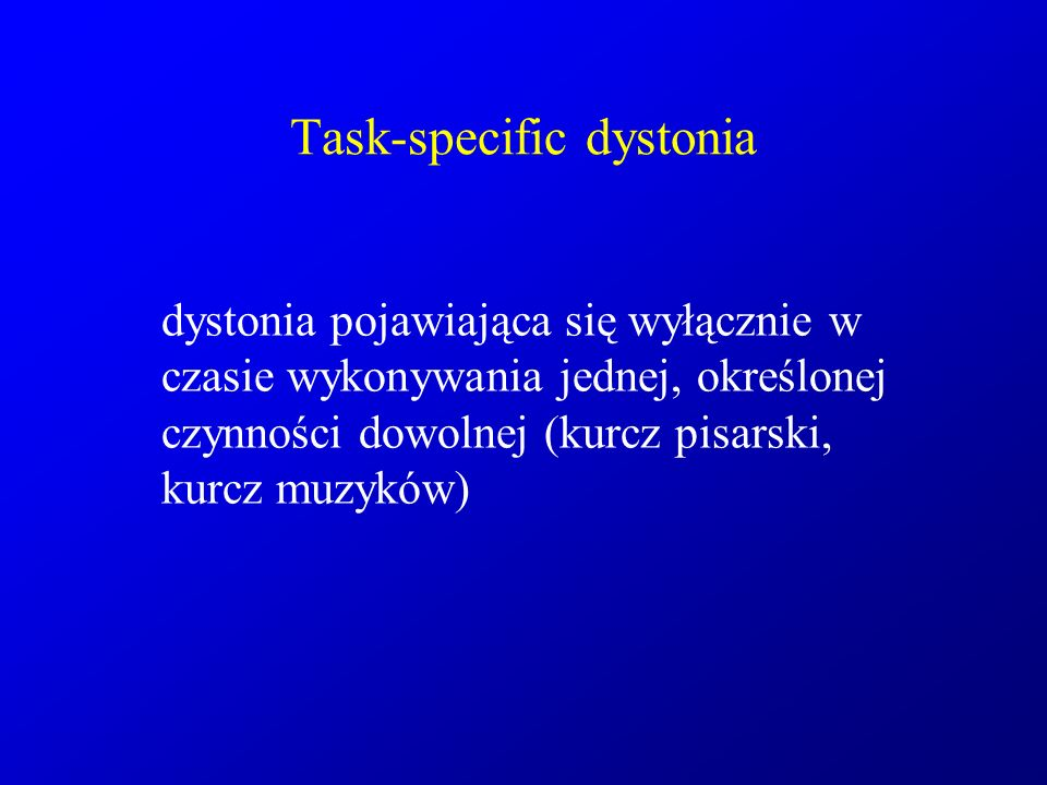 Task-specific dystonia