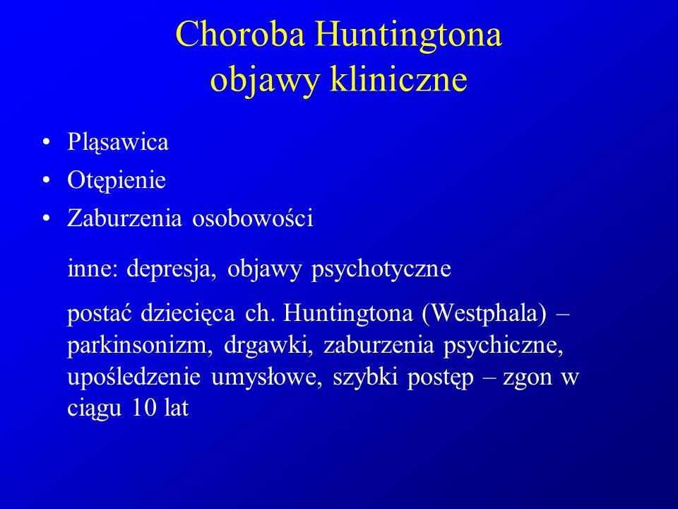 Choroba Huntingtona objawy kliniczne