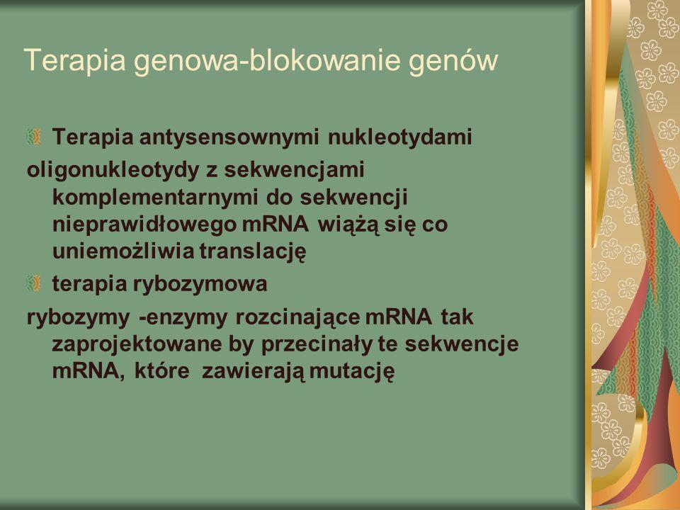 Terapia genowa-blokowanie genów