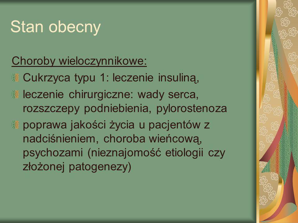 Stan obecny Choroby wieloczynnikowe: