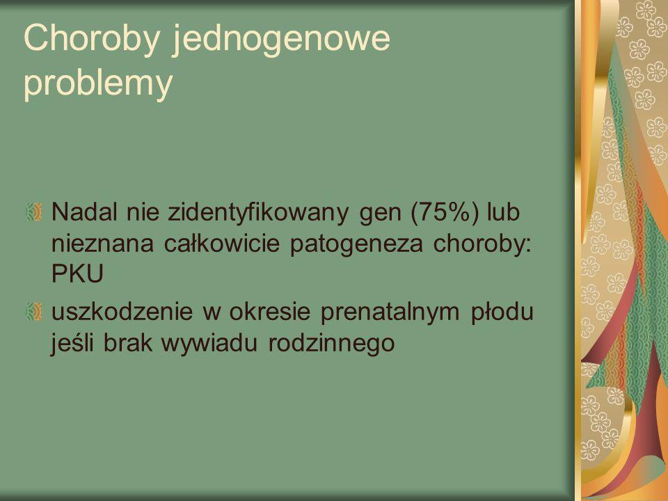 Choroby jednogenowe problemy