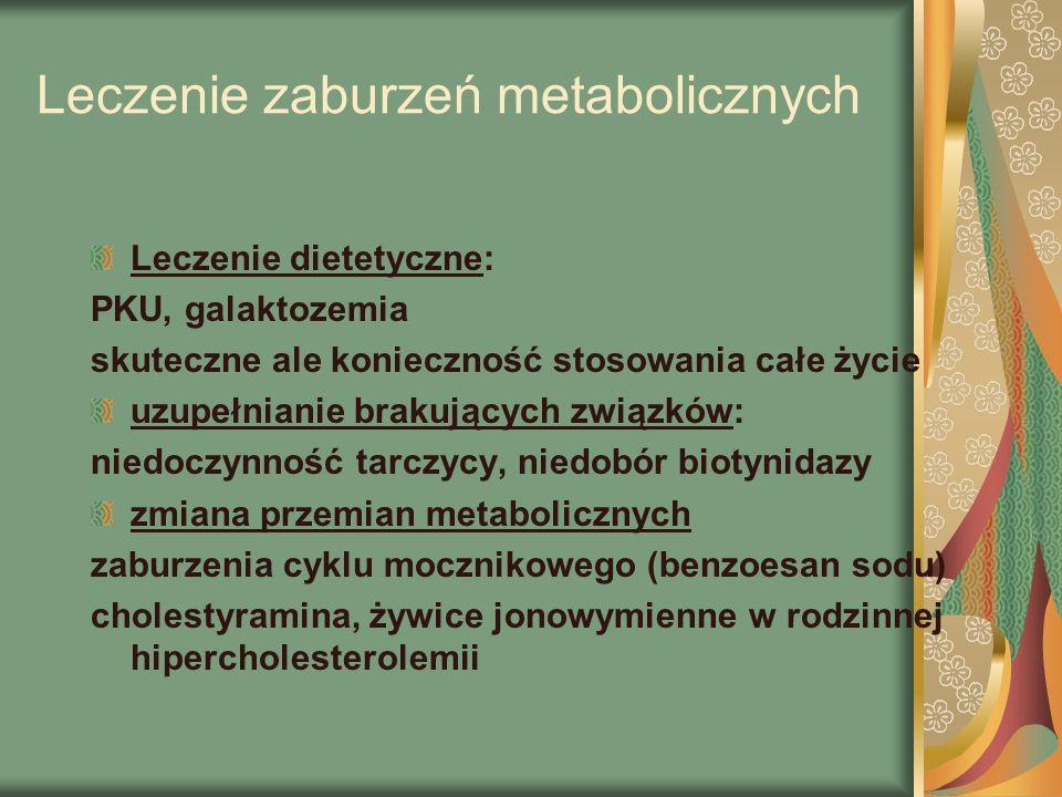Leczenie zaburzeń metabolicznych