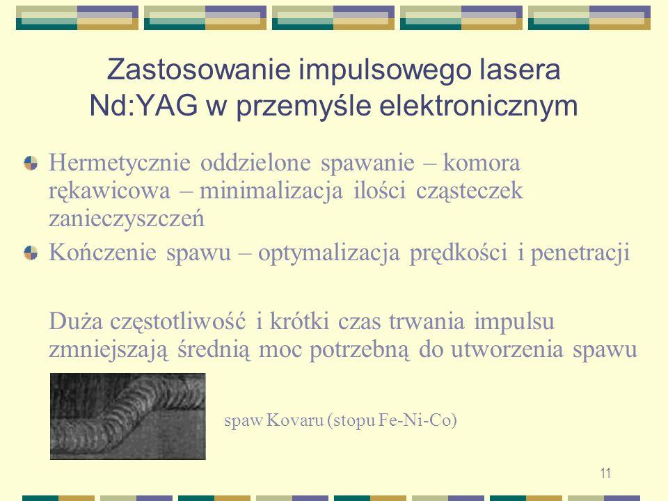 Zastosowanie impulsowego lasera Nd:YAG w przemyśle elektronicznym