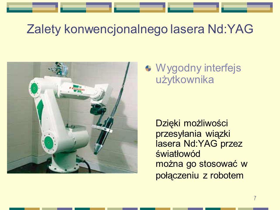 Zalety konwencjonalnego lasera Nd:YAG