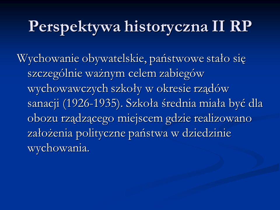 Perspektywa historyczna II RP