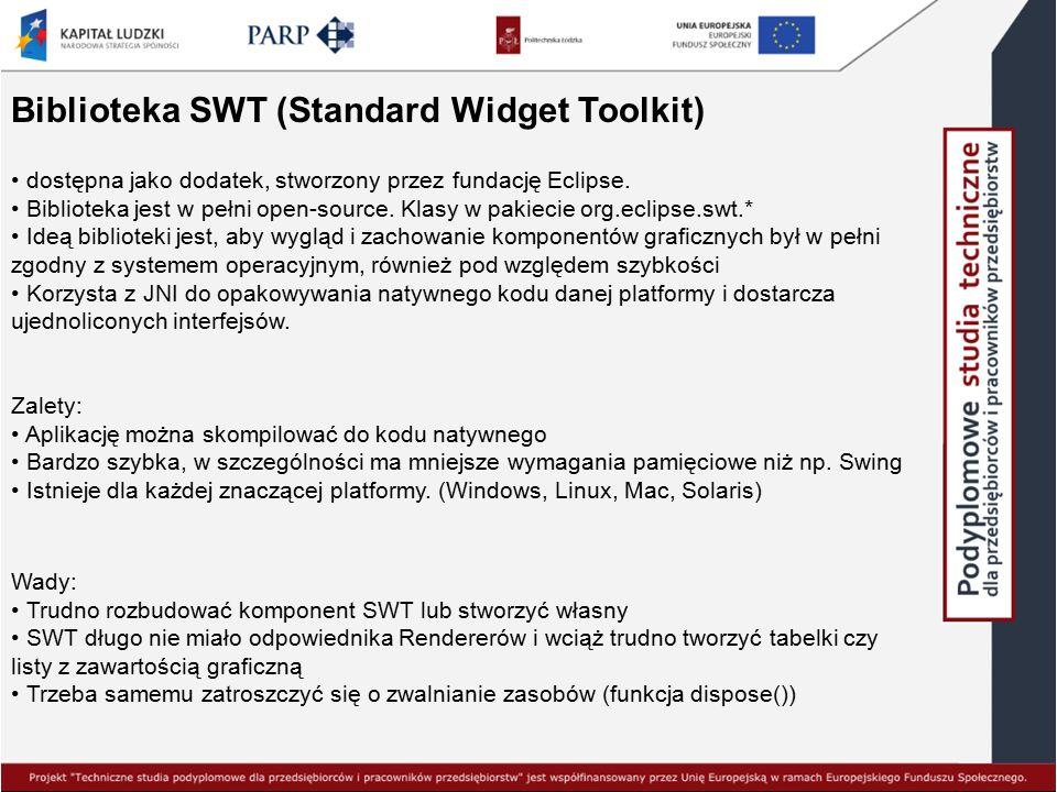 Biblioteka SWT (Standard Widget Toolkit)