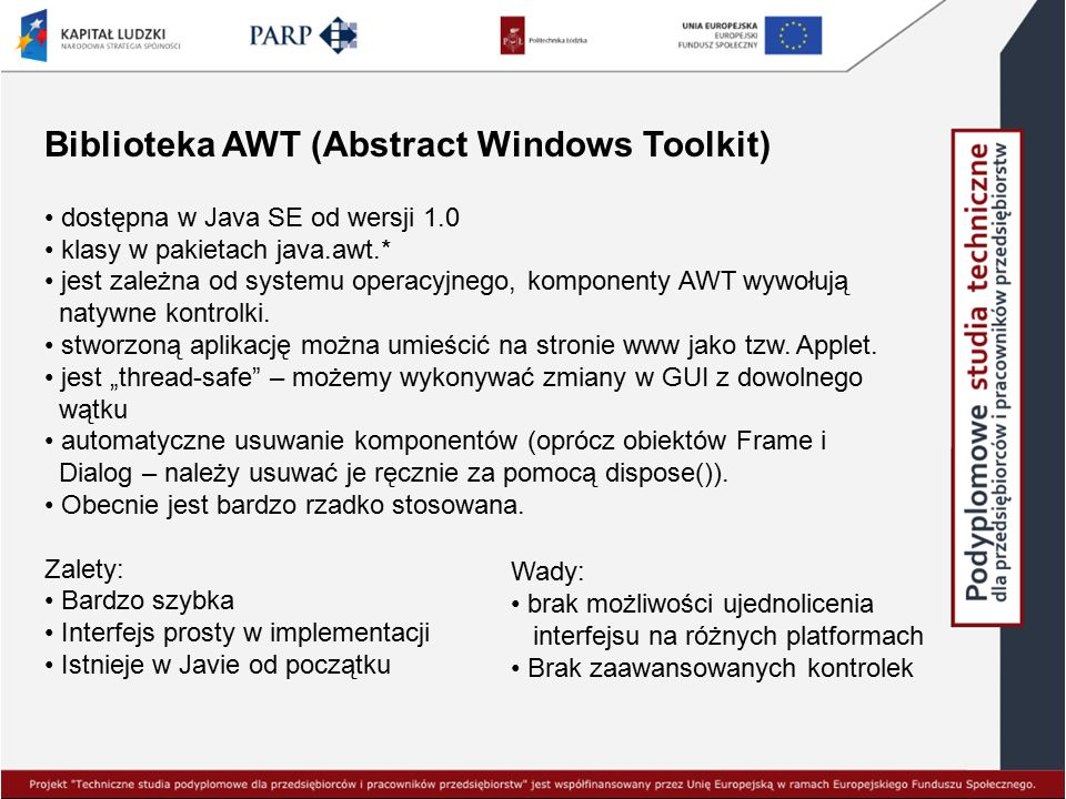 Biblioteka AWT (Abstract Windows Toolkit)