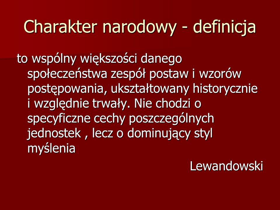 Charakter narodowy - definicja