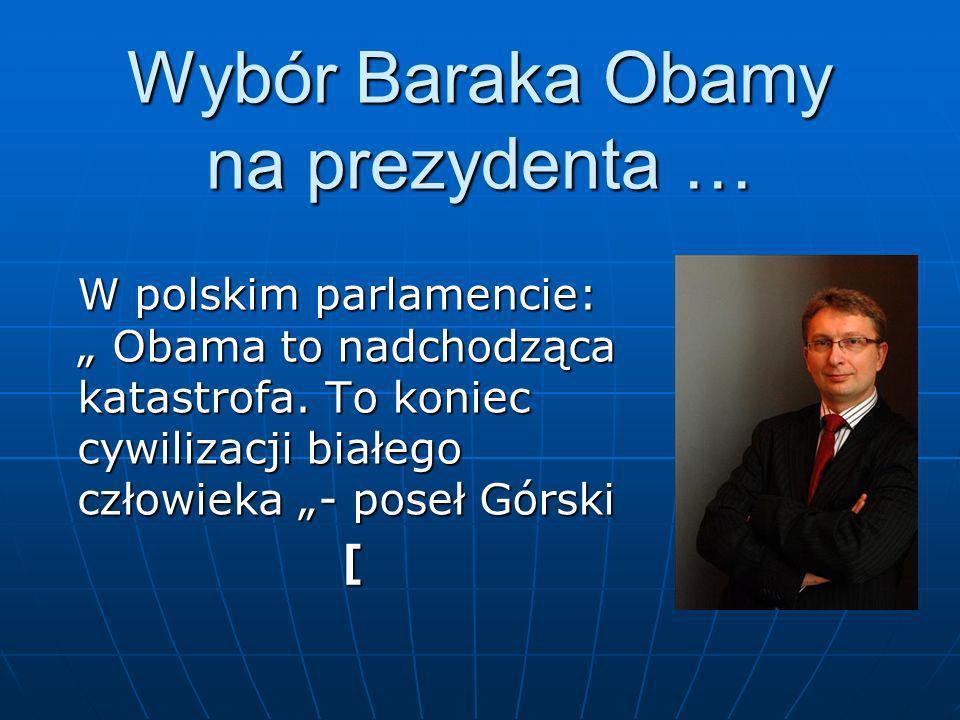 Wybór Baraka Obamy na prezydenta …
