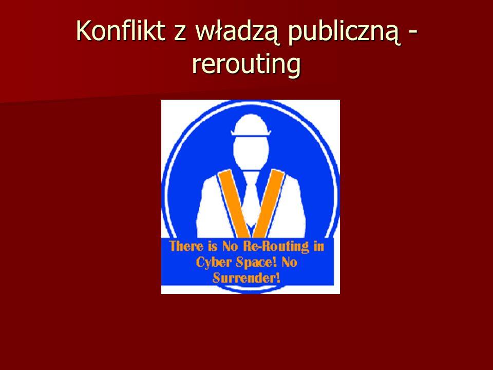 Konflikt z władzą publiczną - rerouting