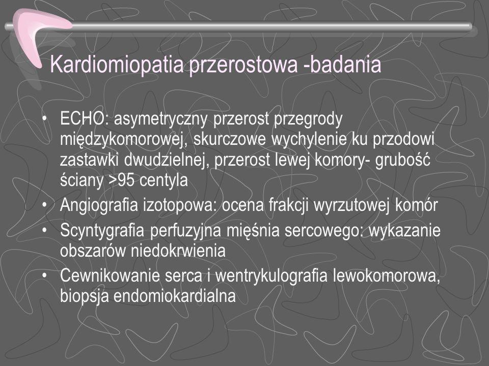 Kardiomiopatia przerostowa -badania