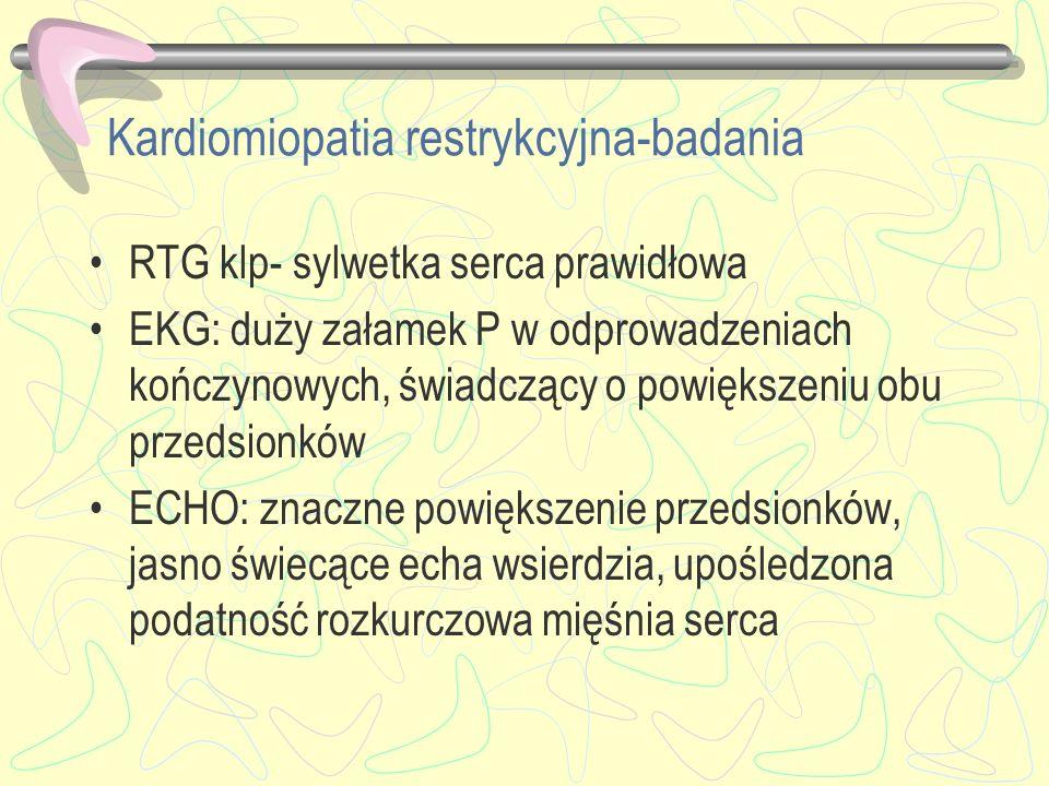 Kardiomiopatia restrykcyjna-badania