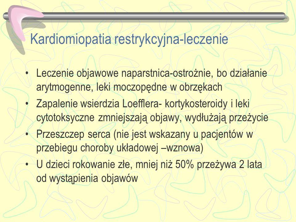 Kardiomiopatia restrykcyjna-leczenie