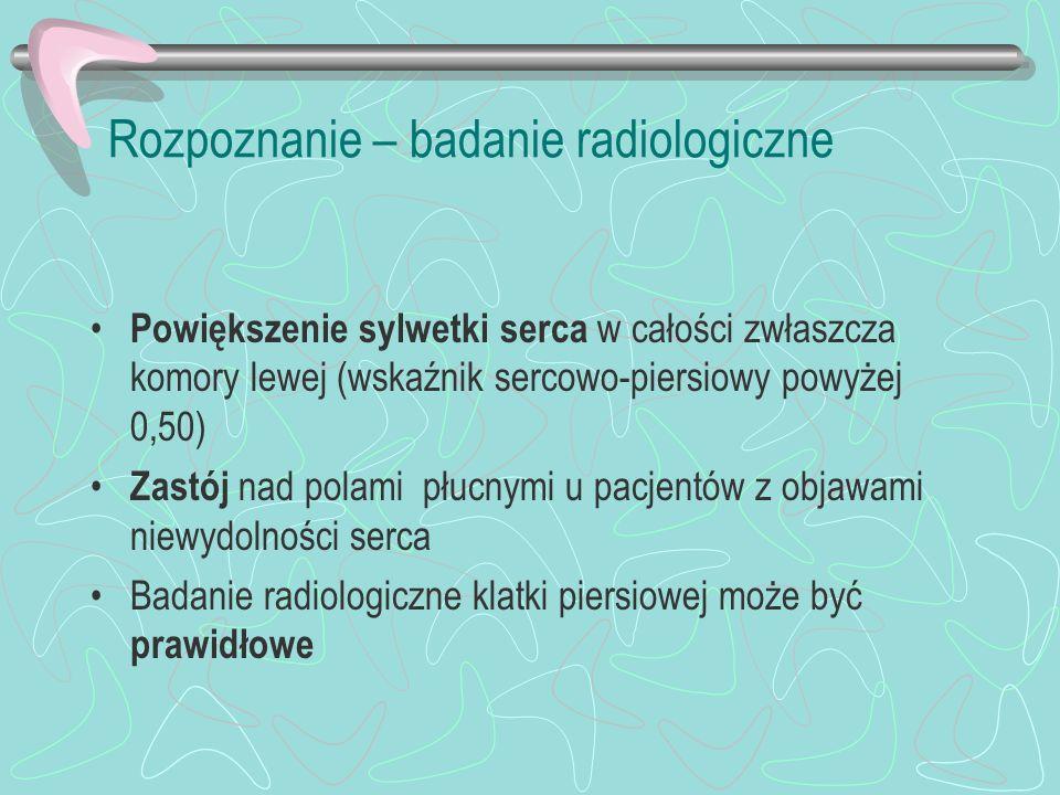 Rozpoznanie – badanie radiologiczne