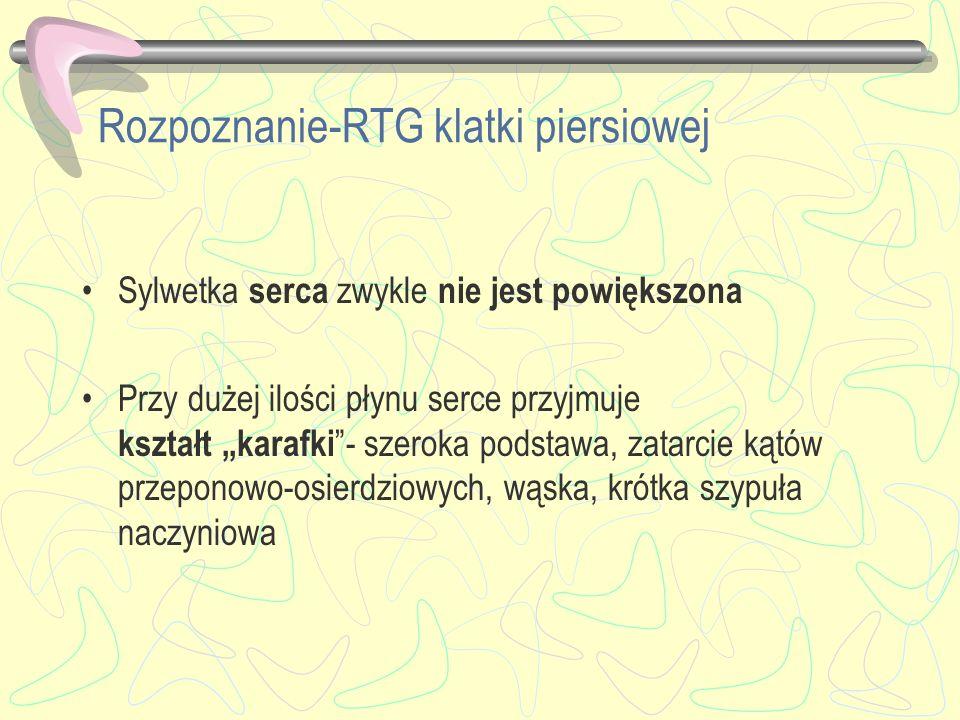 Rozpoznanie-RTG klatki piersiowej