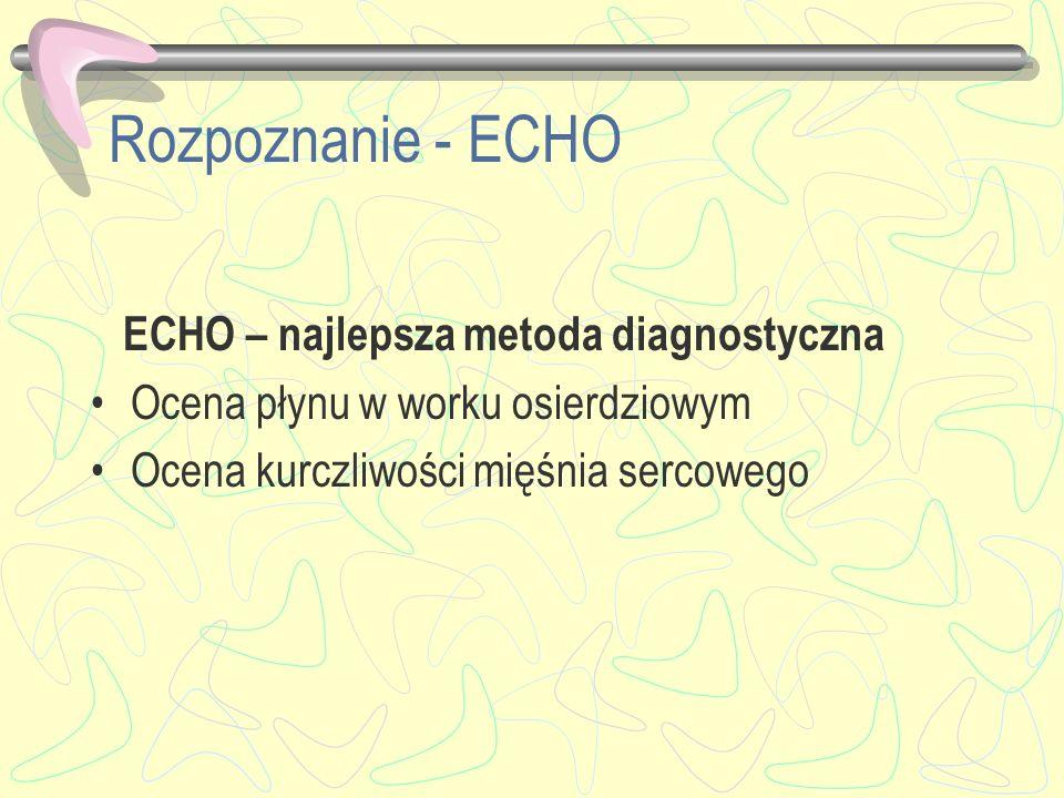 Rozpoznanie - ECHO ECHO – najlepsza metoda diagnostyczna