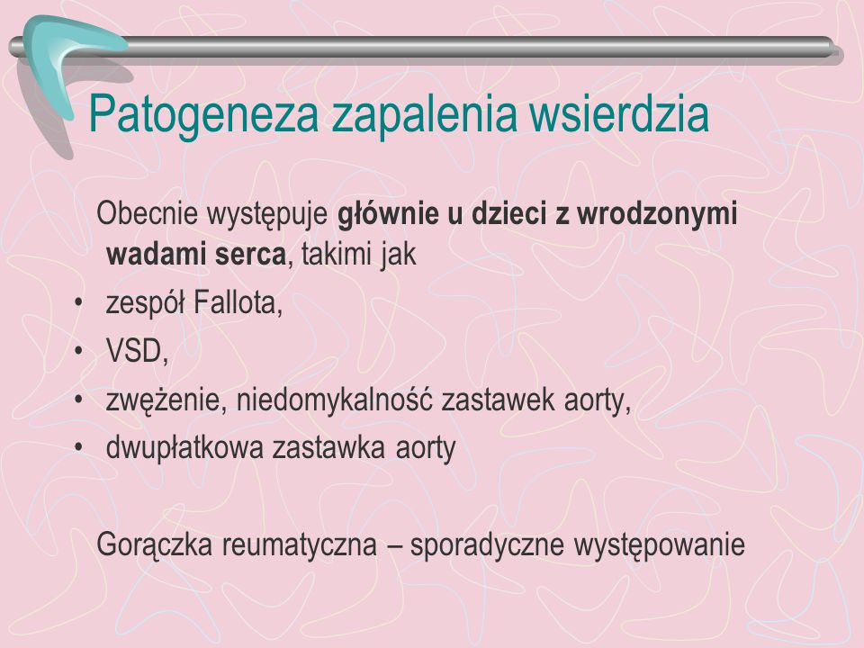Patogeneza zapalenia wsierdzia