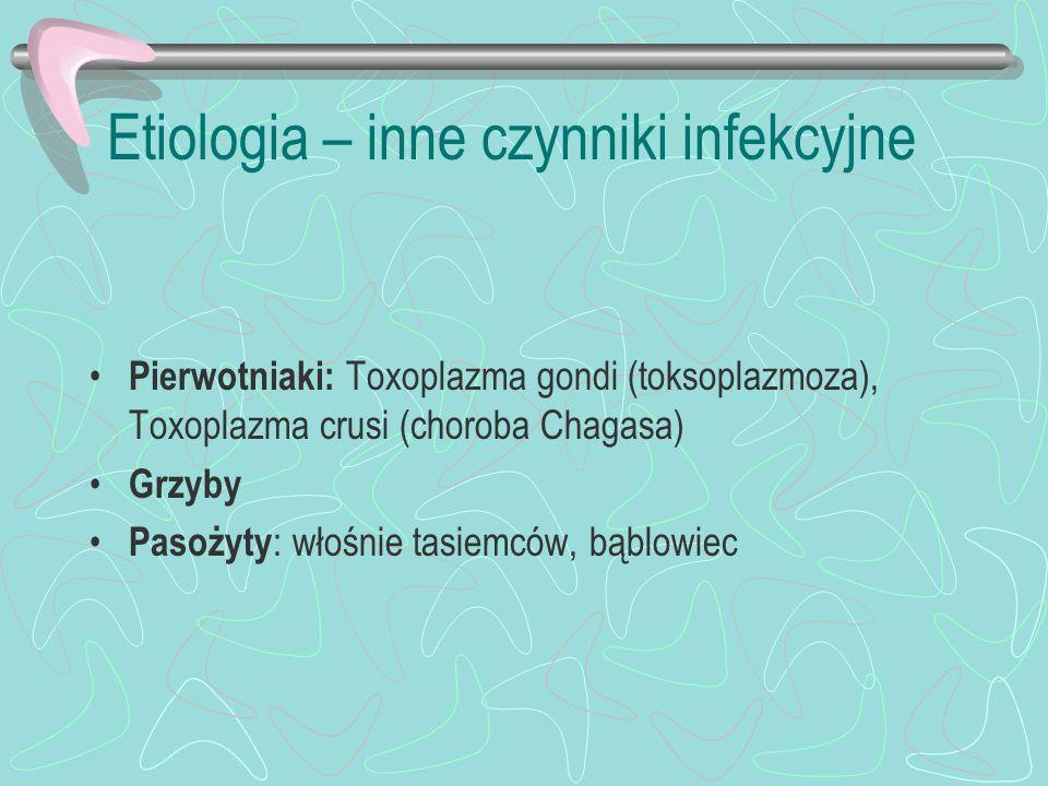 Etiologia – inne czynniki infekcyjne