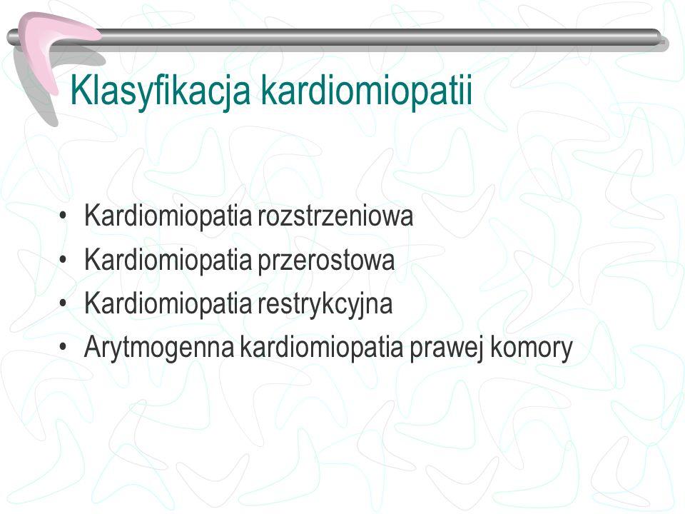 Klasyfikacja kardiomiopatii