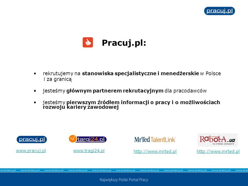 Pracuj.pl:rekrutujemy na stanowiska specjalistyczne i menedżerskie w Polsce. i za granicą. jesteśmy głównym partnerem rekrutacyjnym dla pracodawców.