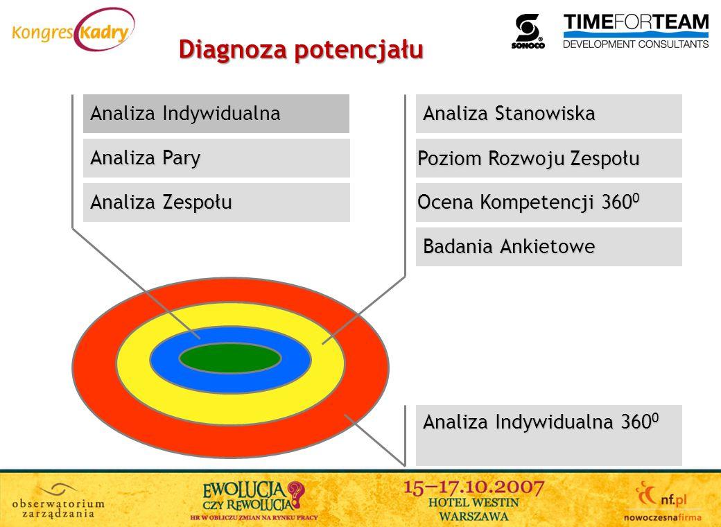 Diagnoza potencjału Analiza Indywidualna Analiza Stanowiska
