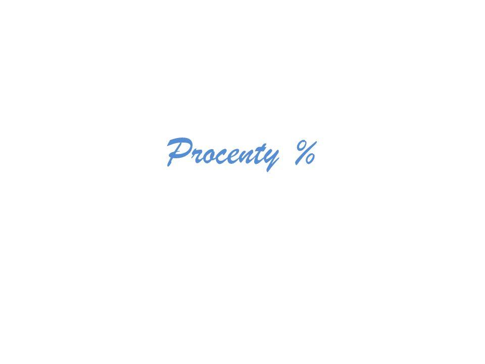 Procenty %