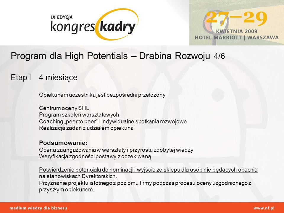 Program dla High Potentials – Drabina Rozwoju 4/6