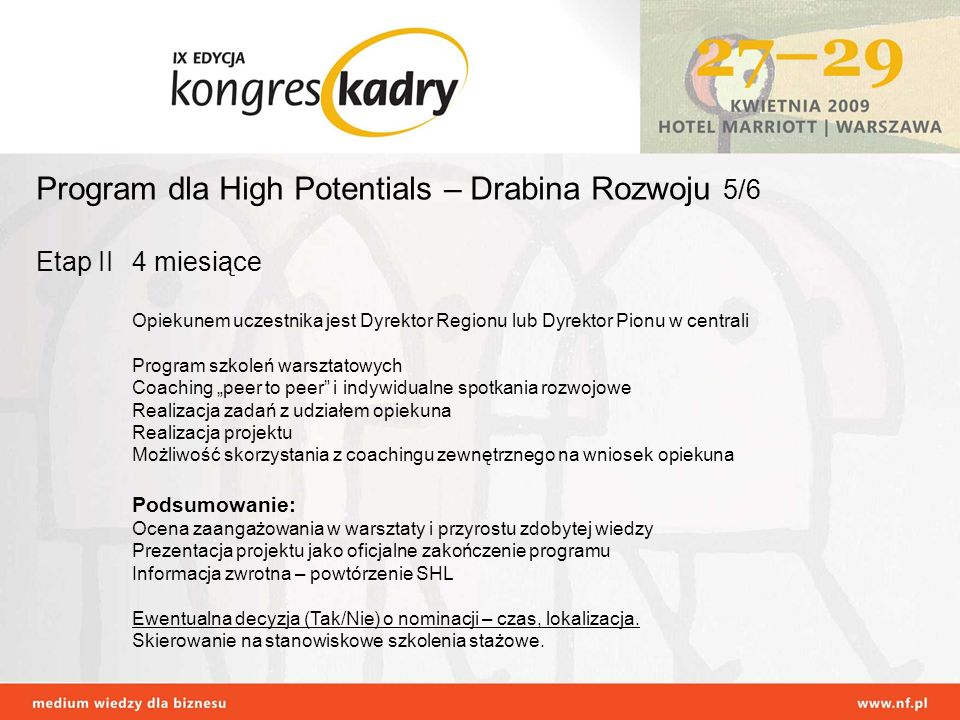 Program dla High Potentials – Drabina Rozwoju 5/6