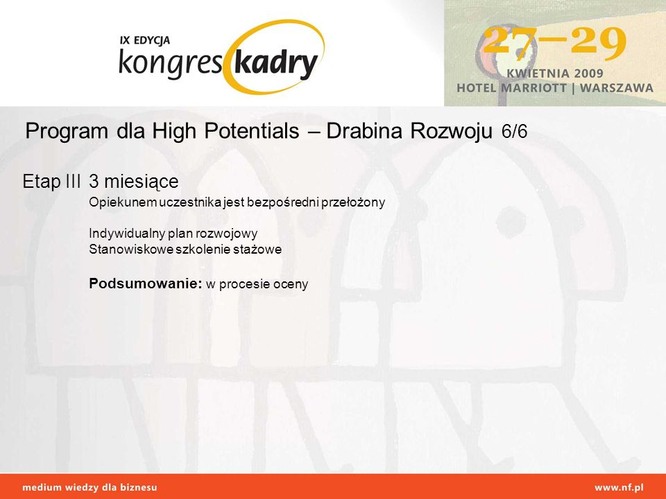 Program dla High Potentials – Drabina Rozwoju 6/6