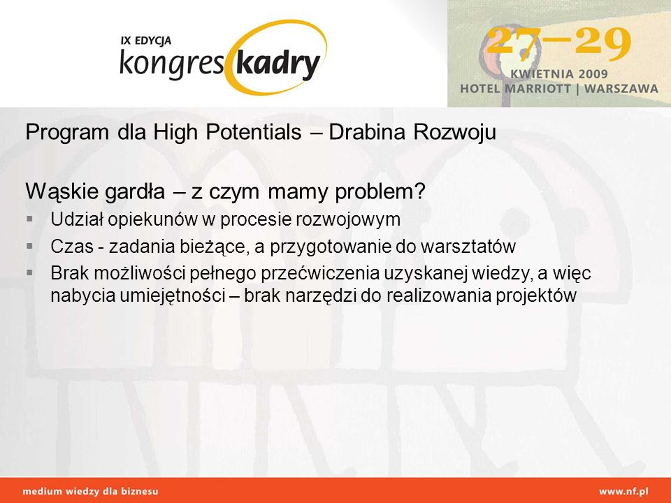 Program dla High Potentials – Drabina Rozwoju
