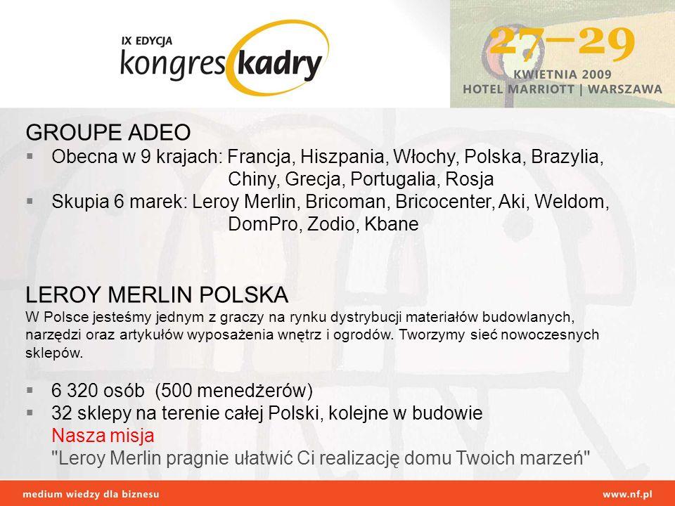 GROUPE ADEO LEROY MERLIN POLSKA