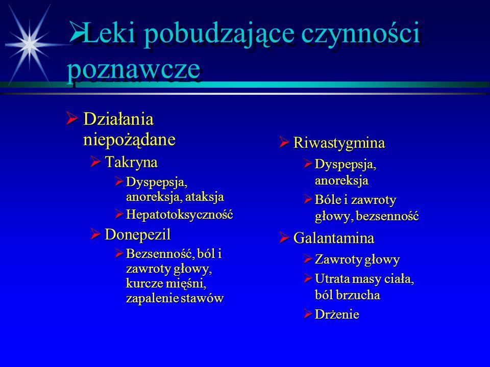 Leki pobudzające czynności poznawcze