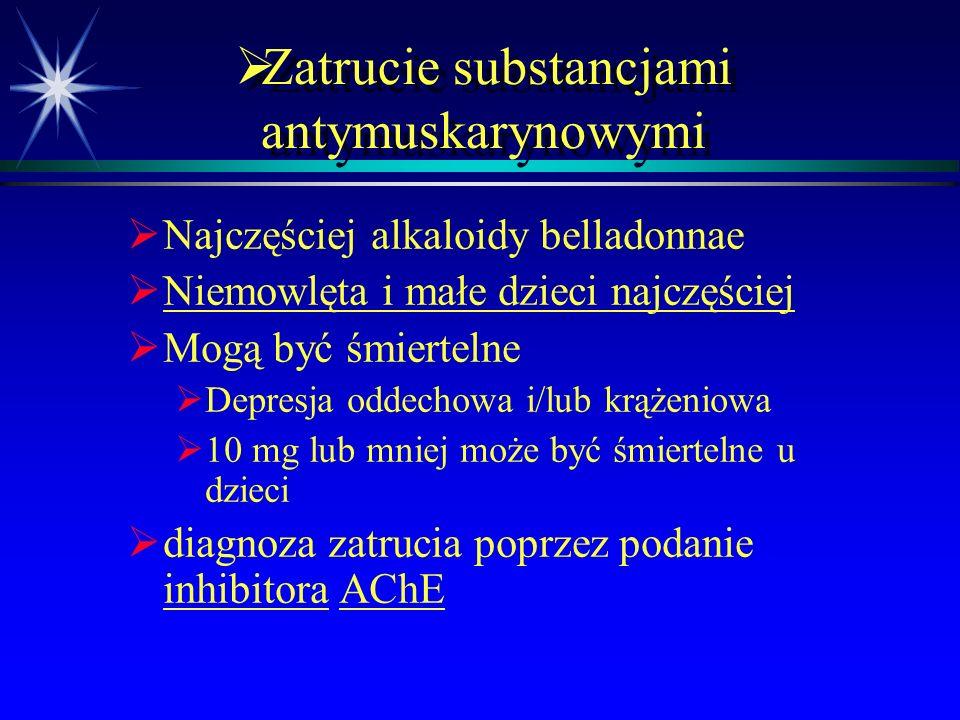 Zatrucie substancjami antymuskarynowymi