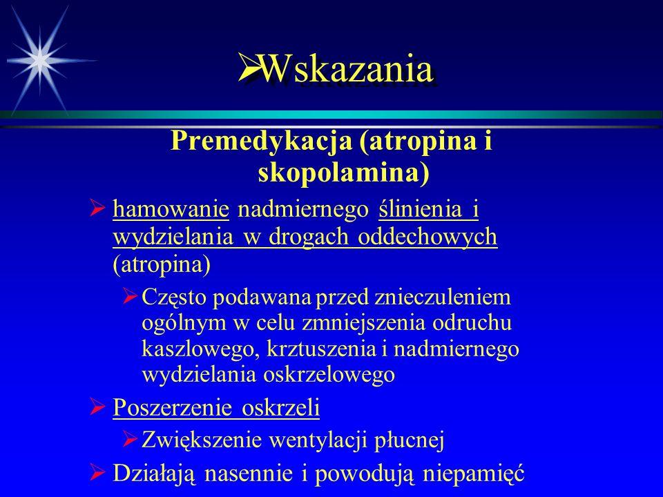 Premedykacja (atropina i skopolamina)