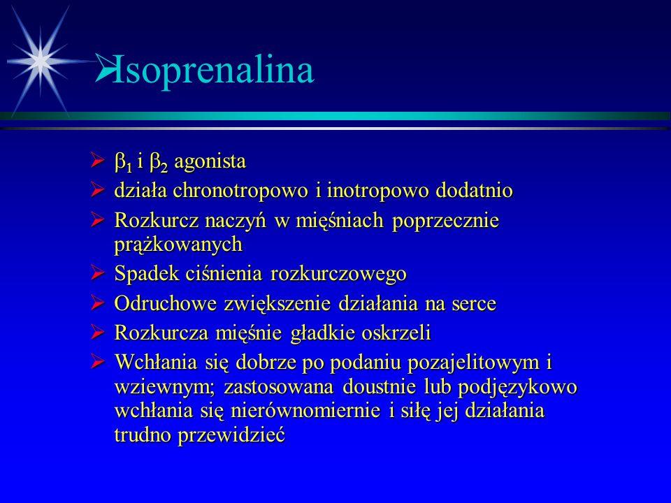 Isoprenalina b1 i b2 agonista