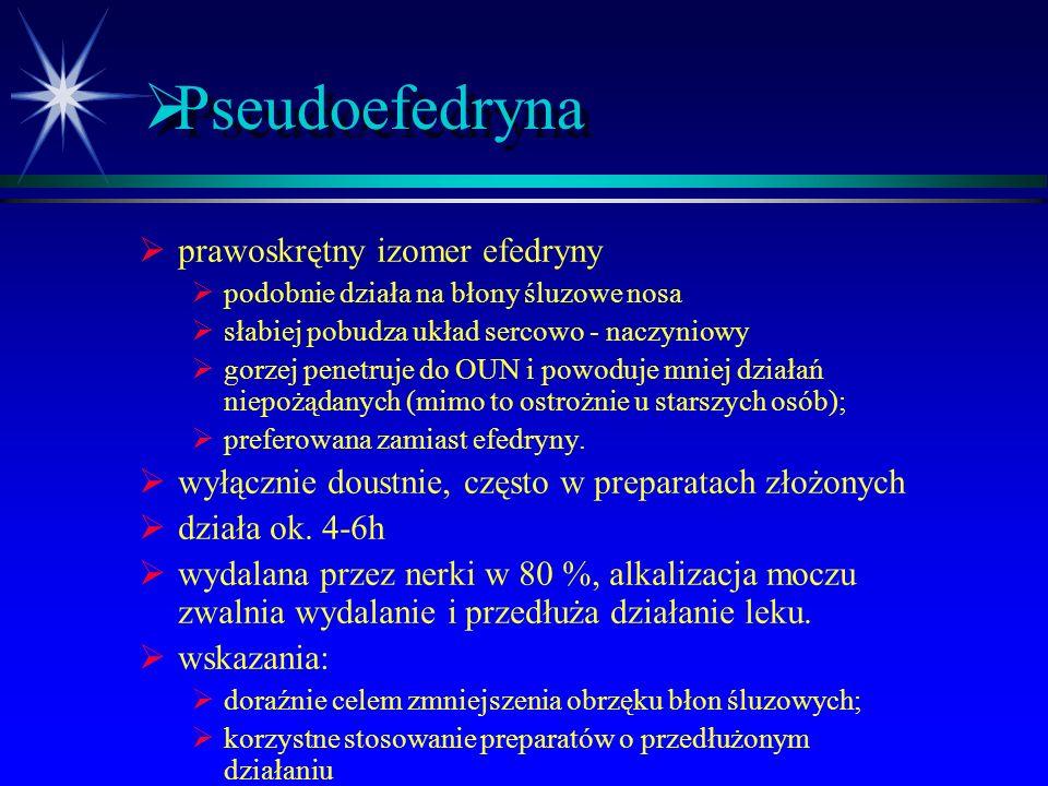 Pseudoefedryna prawoskrętny izomer efedryny