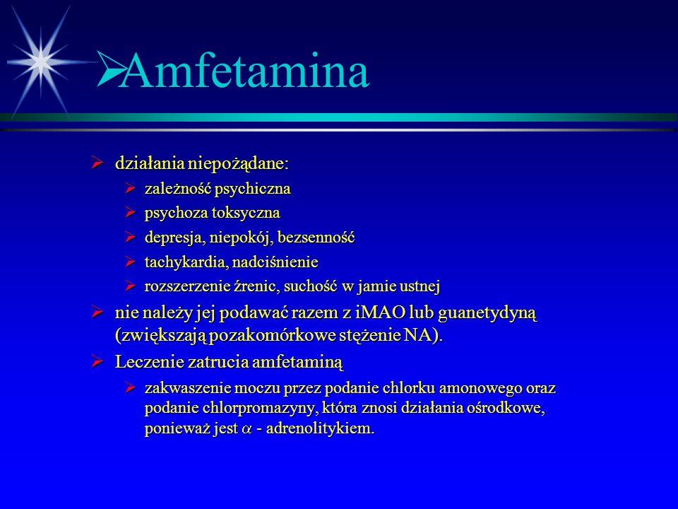 Amfetamina działania niepożądane: